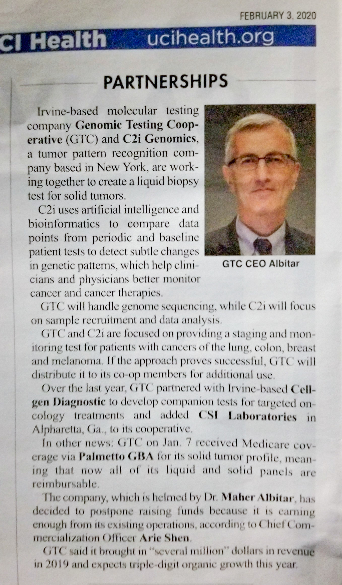 GTC was featured in the Orange County Business Journal again