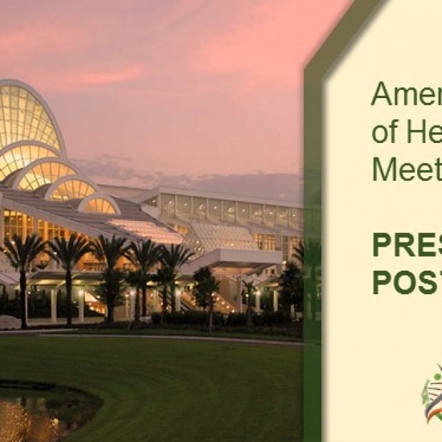 American Society of Hematology Meeting 2019: PRESENTATION POSTERS