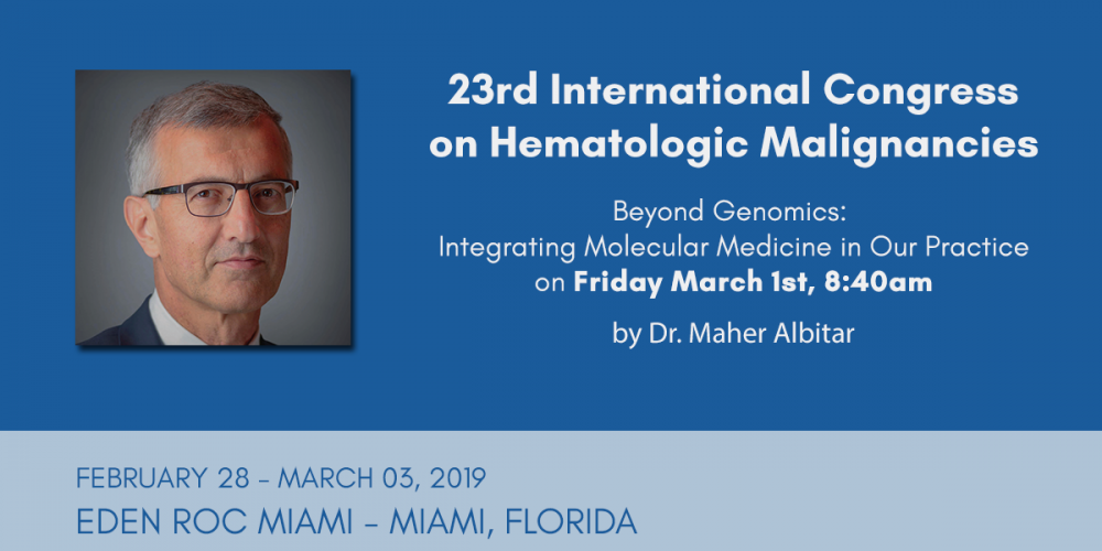 23rd Annual International Congress on Hematologic Malignancies 2019